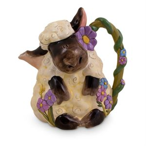 Lamb Teapot With Purple Flowers