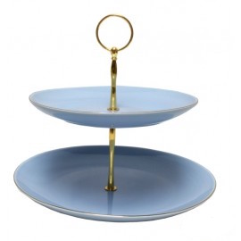 Christiana Vintage Two Tier Blue Cake Stand