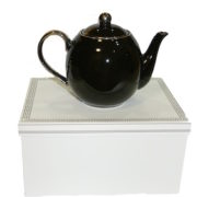 Christiana Lady Sienna Black Teapot