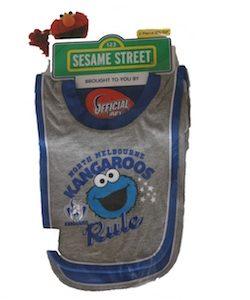 Nth Melbourne Sesame Street Baby 2 Piece Bib Set