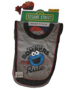 Essendon Sesame Street Baby 2 Piece Bib Set
