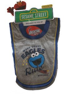 West Coast Sesame Street Baby 2 Piece Bib Set