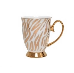 Christiana Vintage Zebra White And Gold Mug