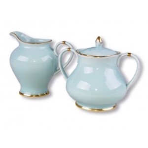 Christiana Vintage Blue Sugar And Creamer