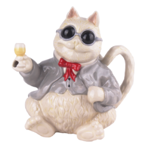 Wine Cat Groovy Teapot