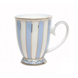 Christiana Blue And White Stripe Mug