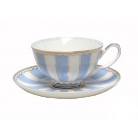christiana vintage blue stripe cup and saucer