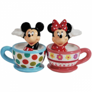 Mickey And Minnie Teacups Salt And Pepper