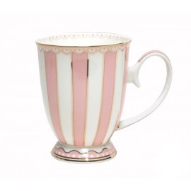 Christiana Pink And White Stripe Mug