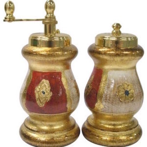 Chiarugi Florentine Salt And Pepper Mill Set