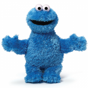 Sesame St Soft Toy Cookie Monster 25cm.