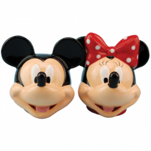 Mickey And Minnie Heads Salt And Pepper Shakers