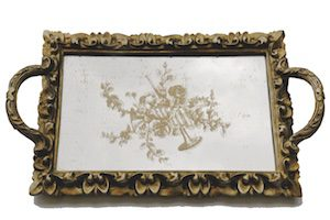Antique Gold Serving Tray 33cm