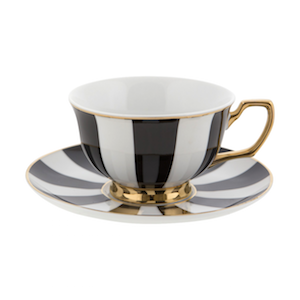 Cristina Re Stripes Ebony Teacup