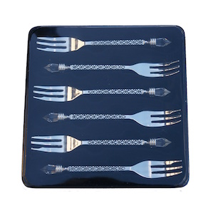 Christiana Miniature Crystal Silver Forks