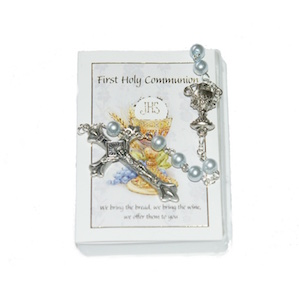 Boys Communion Rosary With Leaflet
