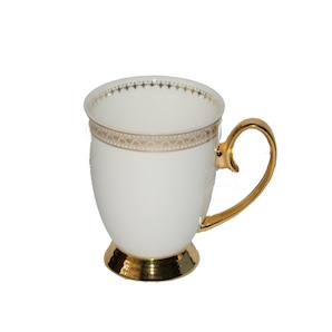 Christiana Miss Alice White and Gold Mug