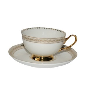 Christiana Miss Alice White And Gold Cup And Saucer