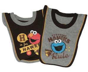 Hawthorn Sesame Street Baby 2 Piece Bib Set