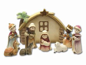 Children Nativity Resin