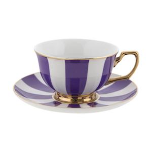 Cristina Re Stripes Grape Teacup
