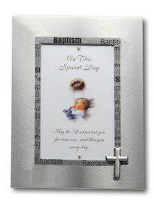 Silver Baptism Frame