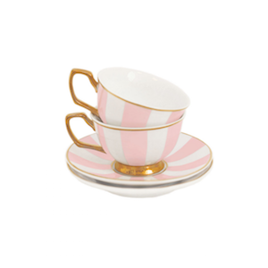 Cristina Re Petite Stripes Blush Teacups