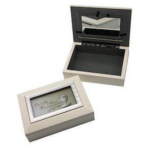 Communion Keepsake Box White