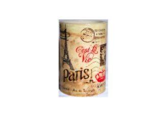 Led Decorative Pillar Candle Paris Design