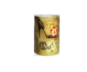 Led Decorative Pillar Candle Fashion Design