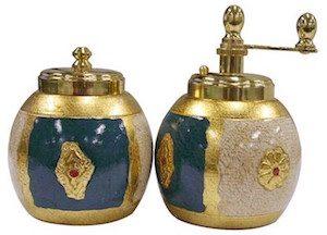 Florentine Chiarugi Pepper Mill Salt Shaker Set