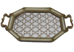 Vintage Gold Rectangle Tray 48cm