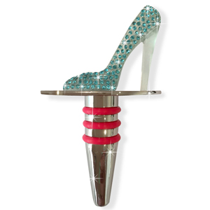 Luxe Wine Stopper Aqua Stiletto
