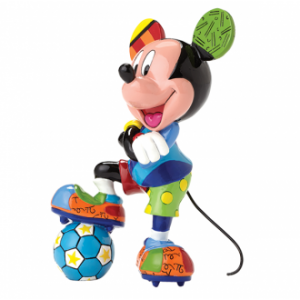 Disney Britto Mickey Mouse Soccer Medium Figurine