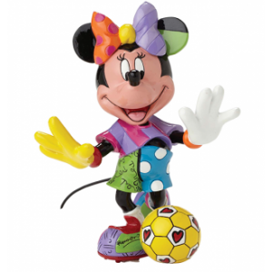 Disney Britto Minnie Mouse Soccer Medium Figurine