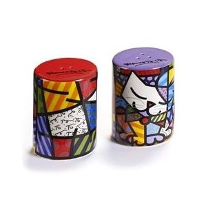 Britto Cat Salt And Pepper Shakers