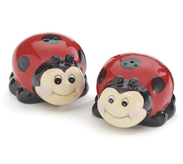 Ladybug Smile Salt and Pepper