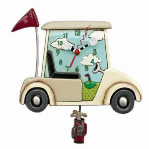 Stay The Course Golf Cart Clock