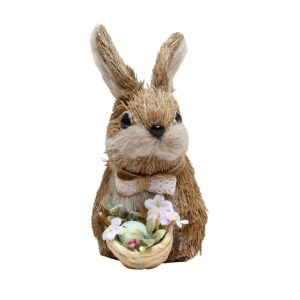 Rabbit Lacey With Basket 15cm