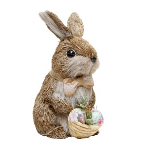 Rabbit Lacey With Basket 24cm