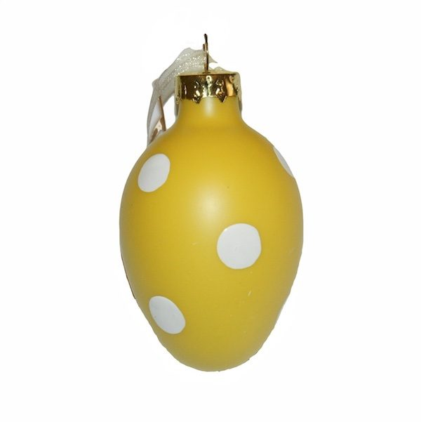 Hanging Glass Easter Egg Ornaments 7cm