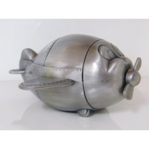 Pewter Aeroplane Money Box