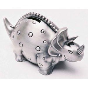 Pewter Triceratops Money Box