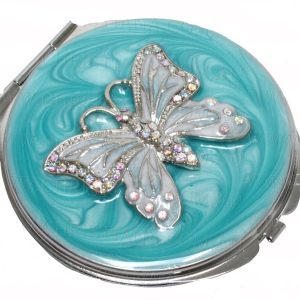 Compact Mirror Butterfly 7cm