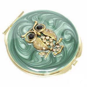 Compact Mirror Owl 7cm