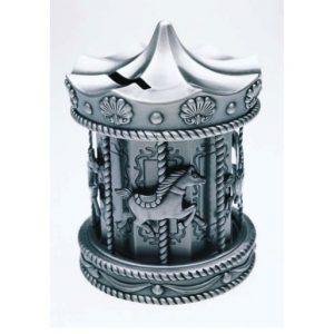 Pewter Carousel Money Box