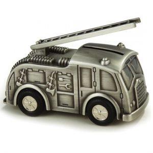 Pewter Fire Engine Money Box