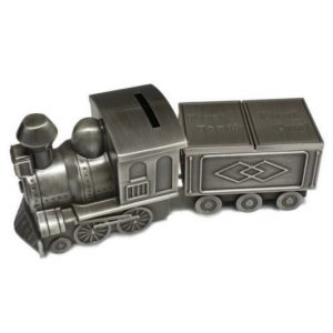 Pewter Mini Train Tooth And Curl Carriage Money Box
