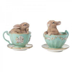 Bunnies in Tea Cup Set 2