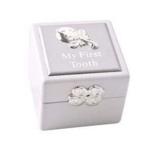 Baby's My First Tooth Box White